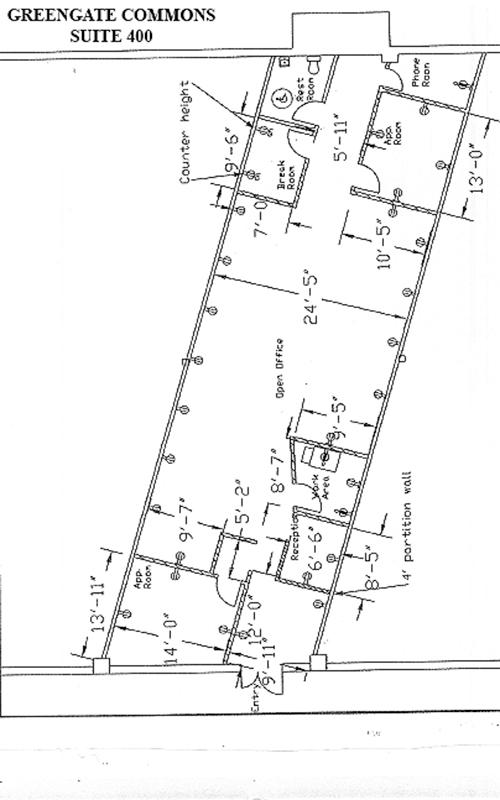 Greengate Commons floor-plans suite 400