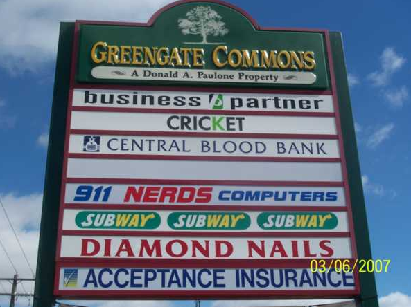 Greengate Commons office signage
