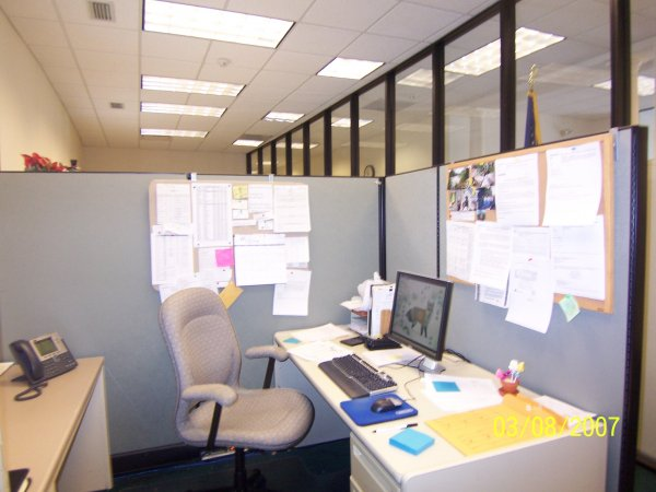 Open office with cubicles, Greensburg